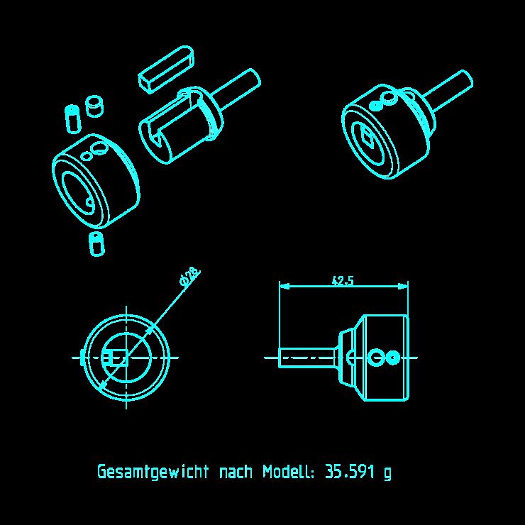 CC Magnet Wire Clamp Konstruktionszeichnung